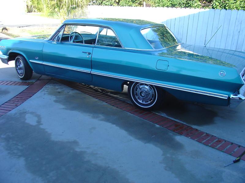 1963 chevy impala ss super sport aqua all og. Black Bedroom Furniture Sets. Home Design Ideas