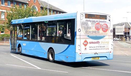 YX63 LJE 'Nottingham City Transport' 387 ADL Enviro 200 /2 on 'Dennis Basford's railsroadsunways.blogspot.co.uk'