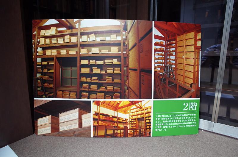 旧江戸川乱歩邸土蔵(幻影城)2階案内板