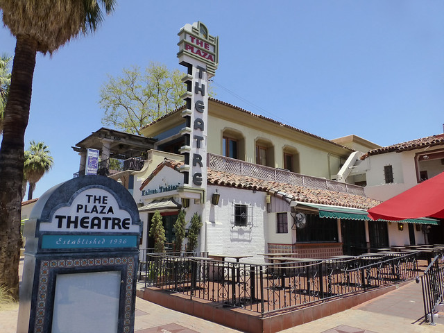 Palm Springs, CA The Plaza Theater sign