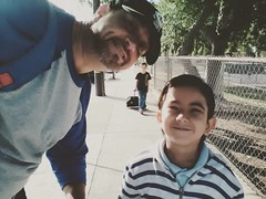 Me & Sean headed to school!!