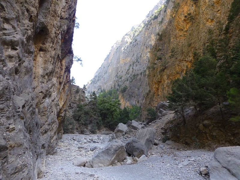 Looking ahead down Samaria Gorge