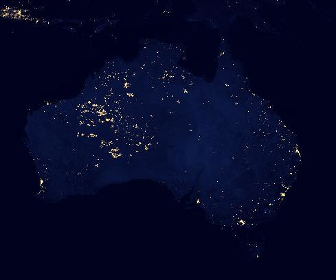 Australia at night