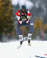 Dave Duncan at the inaugural Nakiska ski cross World Cup.