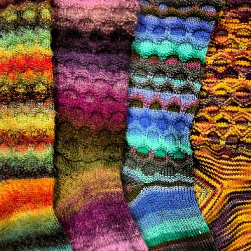 Four pairs of #handmade #knitted #circle #socks
