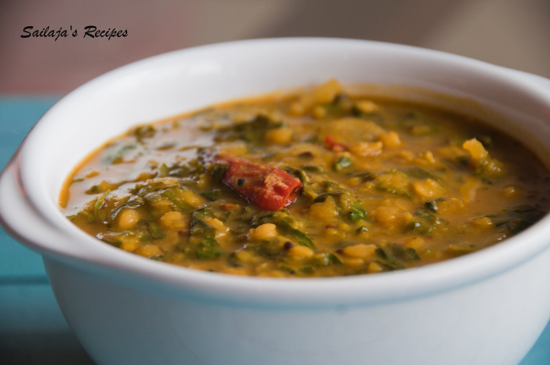 Sailaja 39 s recipes lentils with swiss chard for Best lentil soup recipe in the world