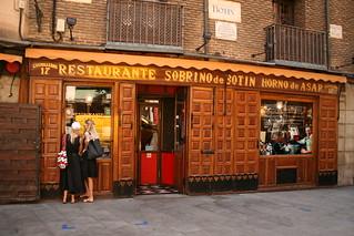 Restaurante Sobrino de Botín, en Madrid.