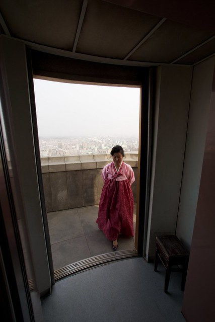 Juche Tower Elevator Pyongyang