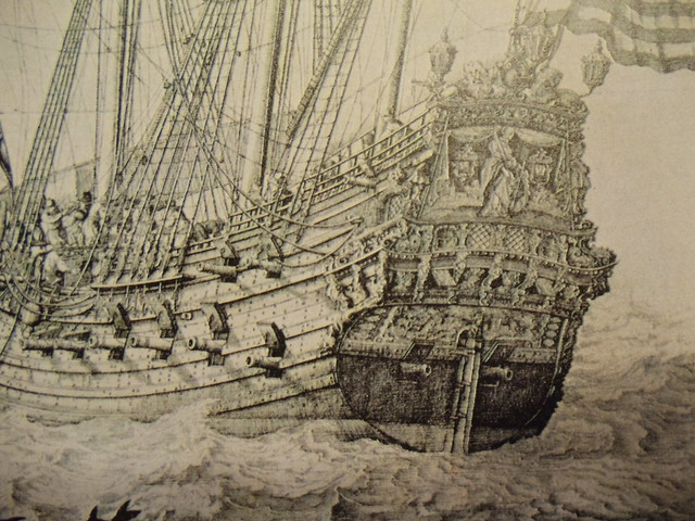 Dutch frigate detail - Ven de Velde