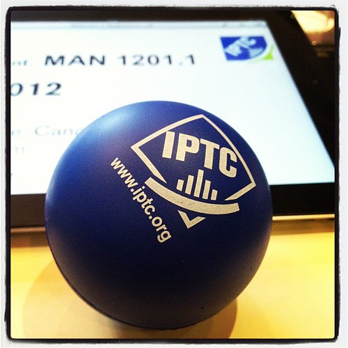 IPTC-branded stress ball