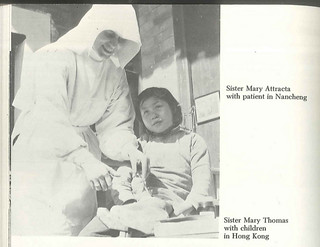 Photo: Sister Mary Attracta with patient in Nancheg