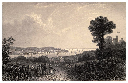 004-Cowes desde el Este- Barber's picturesque guide to the Isle of Wight (1850)