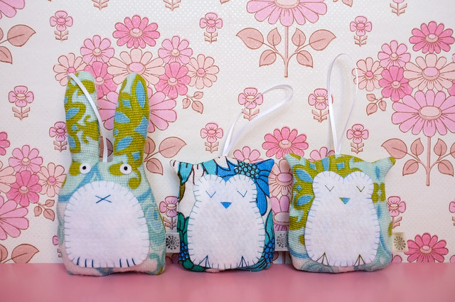 Lavender filled owls and bunny from Pouch