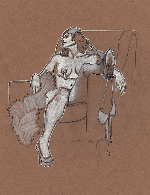 Dr Sketchy's Baltimore with KiKi Allure