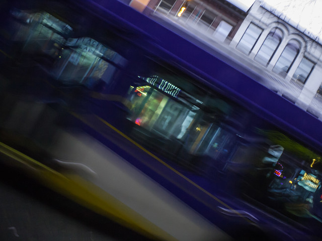 the olympus body cap lens is the best ever lens for blurry transit