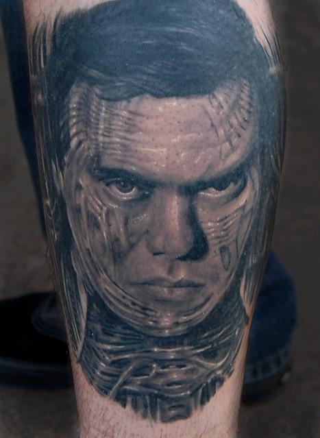 Biomechanical HR Giger portrait tattoo   Flickr - Photo ... H.r. Giger Tattoo