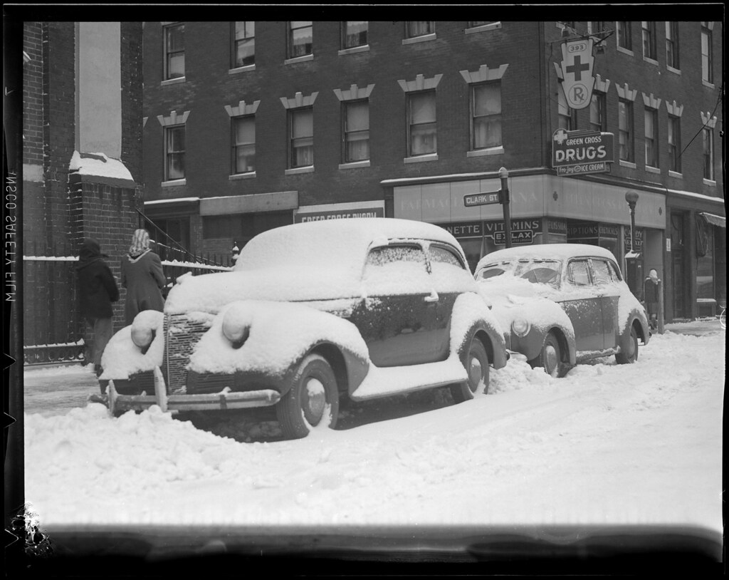 Snow covered autos