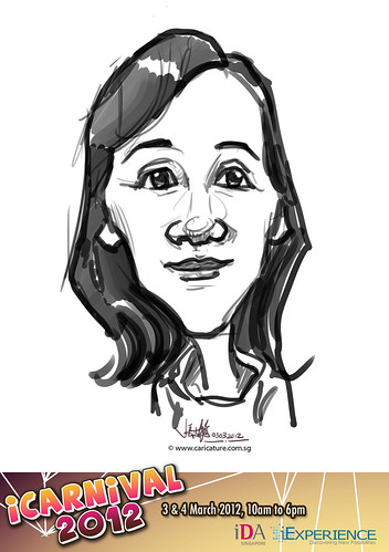 digital live caricature for iCarnival 2012  (IDA) - Day 1 - 44