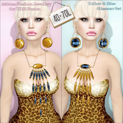 A&Ana Fashion TDR Fusion 2 Yellow & Blue Glamour Set