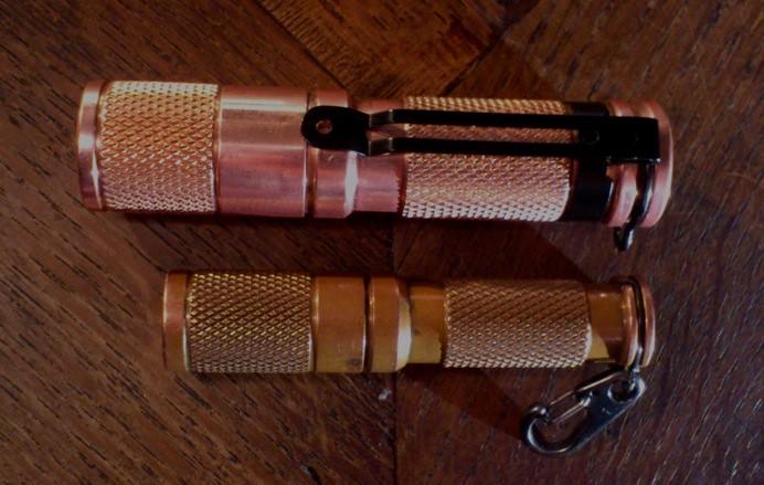 Maratac AA Copper Flashlight Made in USA,101 Copper MARAACU//