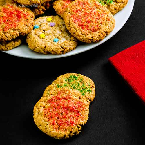 Crunch Drop Cookies with Napkin