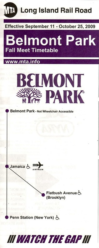 LIRR Belmont Park 2009 Cover