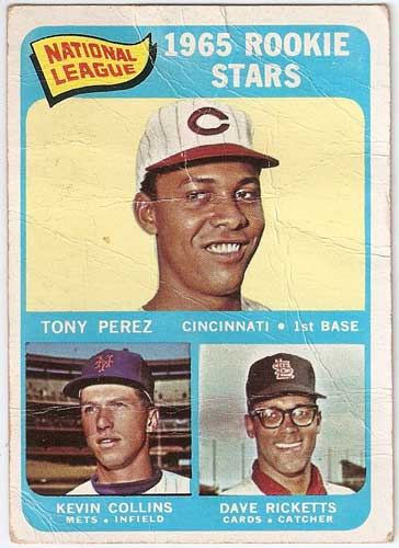 1965 Topps Tony Perez / Kevin Collins / Dave Ricketts