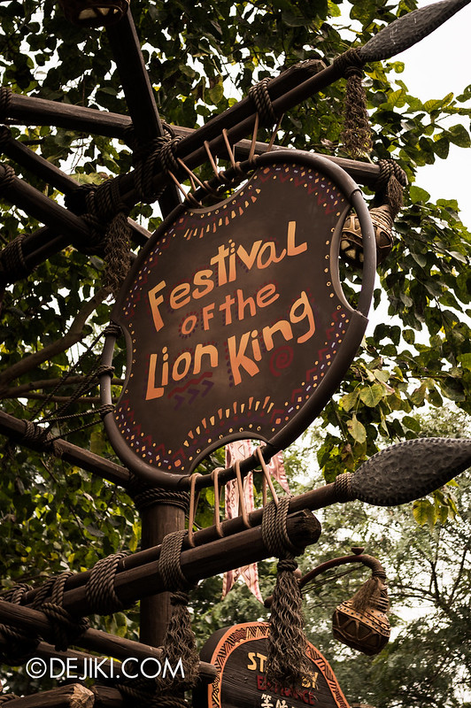 Festival of the Lion King sign