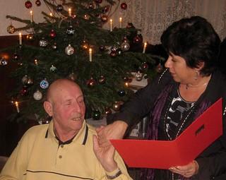 Wilhelm Degenhardt für 40-jährige Mitgliedschaft geehrt