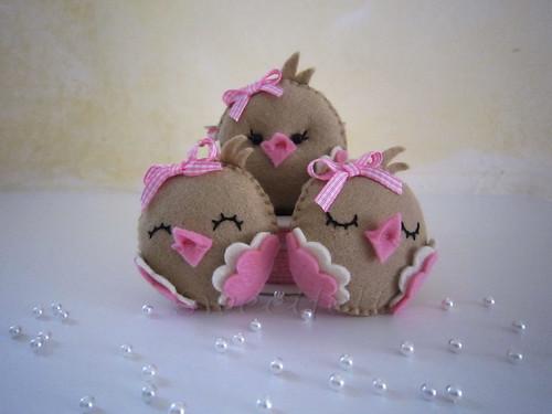 ♥♥♥ De volta às agulhas com passarinhos para a Elena... by sweetfelt \ ideias em feltro
