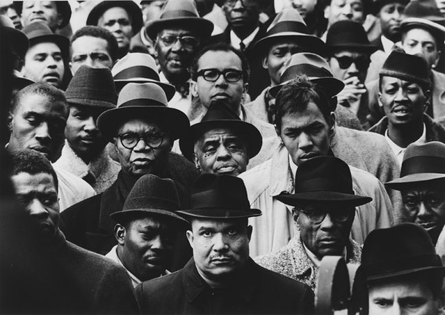 Parks, Gordon (1912-2006) - 1963 Black Muslim Rally, New York