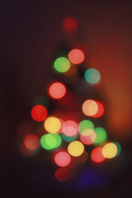 365 days / day 280 - Little bokeh Xmas tree