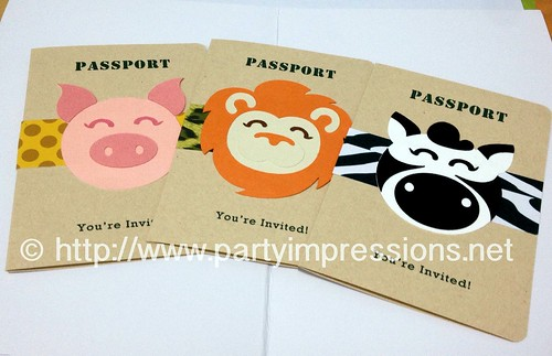 Safari/Jungle Passport Invitation