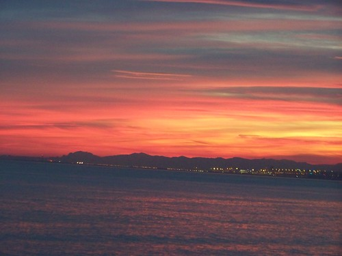 Sunset over Nice bay