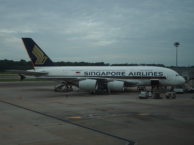 Singapore Airlines A380 at Changi AP