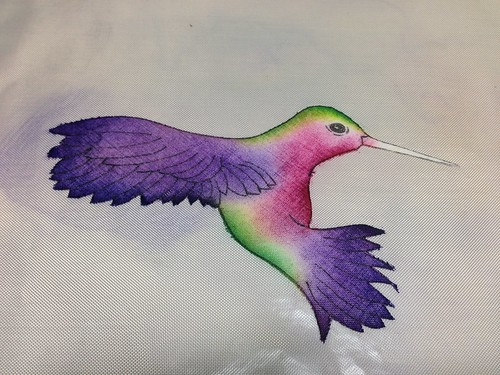 Hummingbird applique