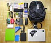 What's in my bag January 1, 2013 no Timbuk2 :(
