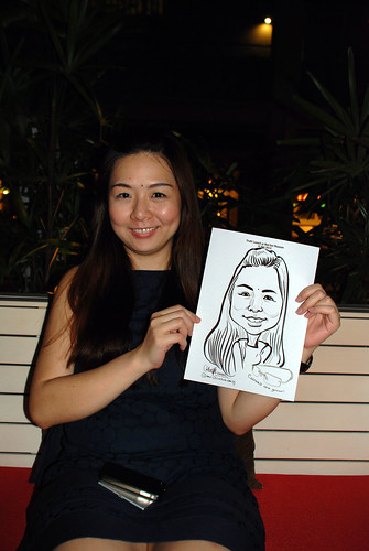 caricature live sketching for Kaleido Vision Pte Ltd Product Launch - 15