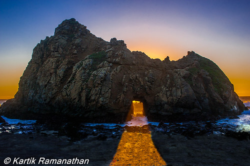 Pfeiffer Arch Sunset, Pfeiffer Beach, Big Sur, CA