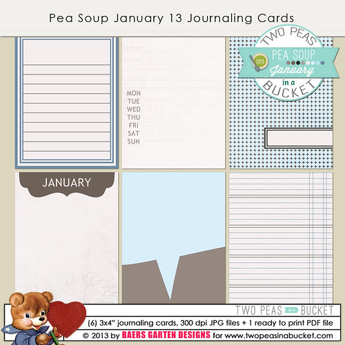 Pea Soup January 13 Journaling Cards
