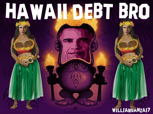 HAWAII DEBT BRO by Colonel Flick/WilliamBanzai7
