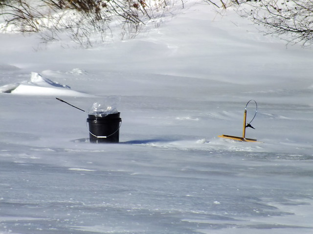 Ice fishing trap flickr photo sharing for Ice fishing traps