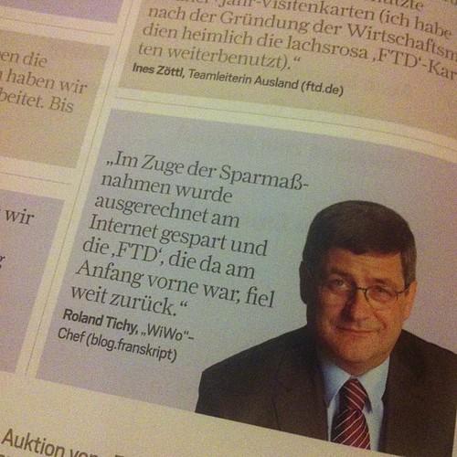 Ein Magazin, das 8 Euro kostet, sollte doch auch aus Blogs ordentlich zitieren können, oder? #wirtschaftsjournalist
