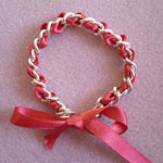 ribbon and chain bracelet