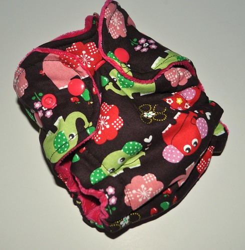 Bumstoppers Newborn Hybrid Fitted Elephants in Line **New Style**
