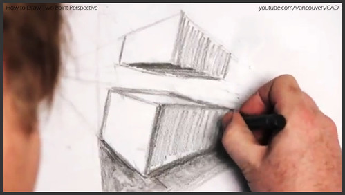 2D design how to draw in two point perspective 021