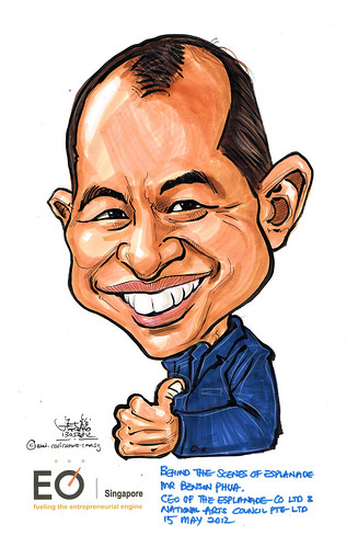 Mr Benson Phua caricature for EO Singapore