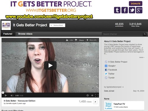 It Gets Better Project - YouTube