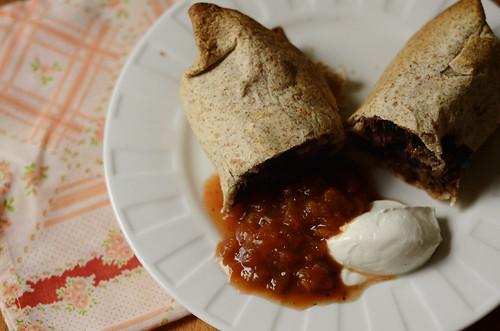 black bean & sweet potato burrito recipe