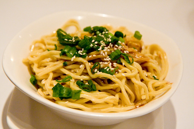 Dan dan noodles with chili and minced pork, Land of Plenty | Flickr ...